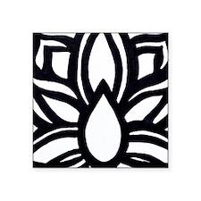 "Lotus Opening Square Sticker 3"" x 3"""