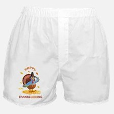 HAPPY THANKSGIBBING Boxer Shorts