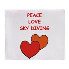 sky diving Throw Blanket