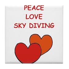 sky diving Tile Coaster