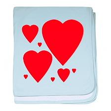 Valentines Day Hearts baby blanket