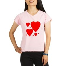 Valentines Day Hearts Performance Dry T-Shirt