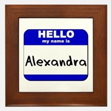 hello my name is alexandra  Framed Tile