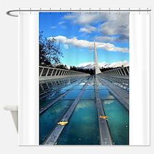 Poster Sundial Bridge Shower Curtain