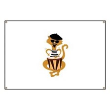 Retro Bongo Cat Banner