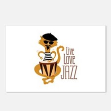 Live Love Jazz Postcards (Package of 8)