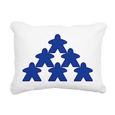 Meeple Pyramid Rectangular Canvas Pillow
