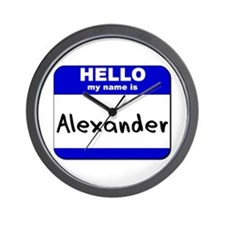 hello my name is alexander  Wall Clock