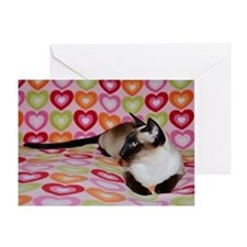 Siamese Cat Happy Valentine's Day He Greeting Card