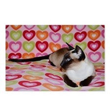 Siamese Cat Happy Valenti Postcards (Package of 8)