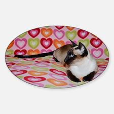 Siamese Cat Happy Valentine's Day H Decal