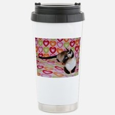 Siamese Cat Happy Valen Stainless Steel Travel Mug