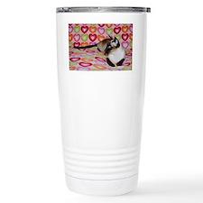 Siamese Cat Happy Valen Travel Mug