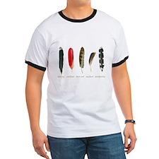 Nature Art Bird Feathers T-Shirt