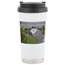 African Grey Parrot lak Travel Mug