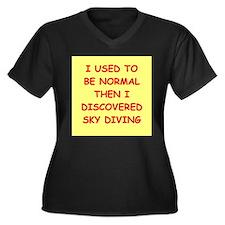 sky diving Plus Size T-Shirt