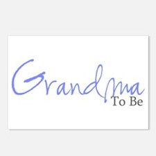 Grandma To Be (Blue Script) Postcards (Package of