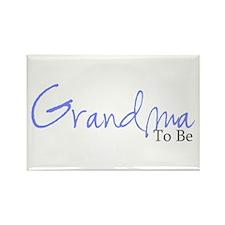 Grandma To Be (Blue Script) Rectangle Magnet