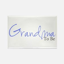 Grandma To Be (Blue Script) Rectangle Magnet (100