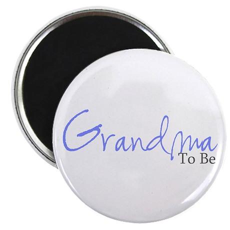 Grandma To Be (Blue Script) Magnet