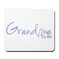 Grandma To Be (Blue Script) Mousepad