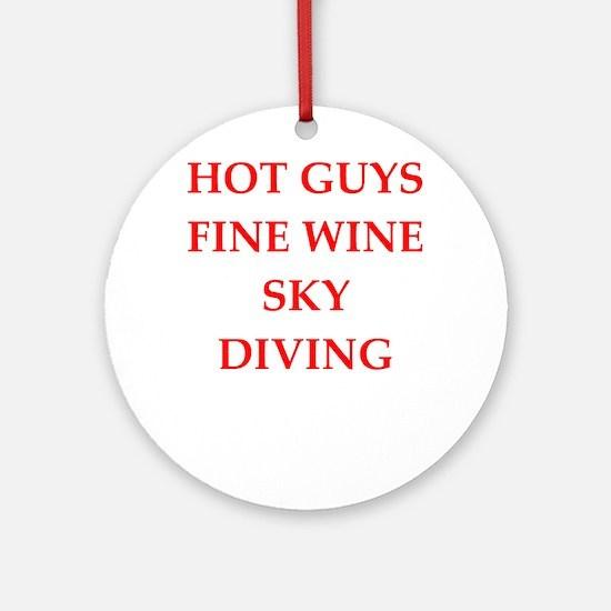 sky diving Ornament (Round)
