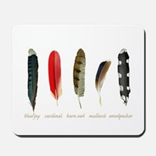 Nature Art Bird Feathers Mousepad