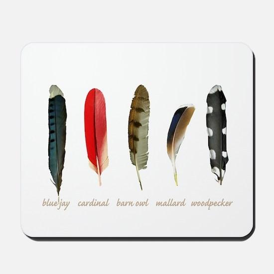 Nature Art Bird Feathers Mousepad