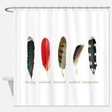 Nature Art Bird Feathers Shower Curtain