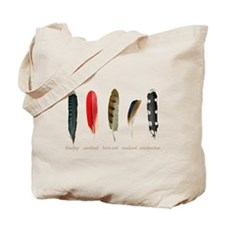 Nature Art Bird Feathers Tote Bag
