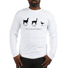Llama, Alpaca, Duck... Any Qu Long Sleeve T-Shirt