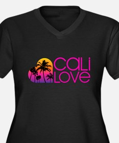 Cali Love #1 Women's Plus Size V-Neck Dark T-Shirt