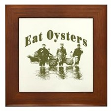 Eat Oysters Framed Tile