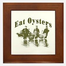 Eat Oysters Framed Tile