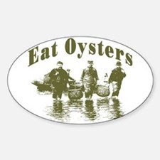 Eat Oysters Oval Decal