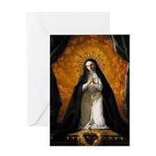 St Margaret Mary Alacoque Greeting Cards