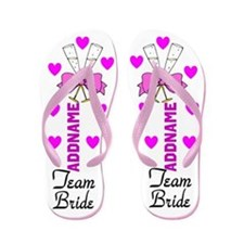 Team Bride Love Flip Flops
