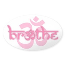 (Pink) Breathe With Om Decal