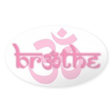 (Pink) Breathe With Om Stickers