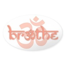(Orange) Breathe With Om Decal