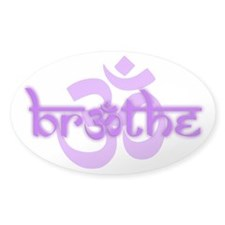 (Purple) Breathe With Om Bumper Stickers