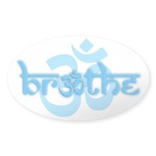 (Turquoise) Breathe With Om Decal