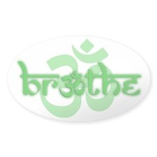 (Green) Breathe With Om Decal
