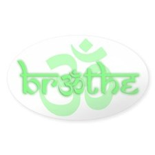 (Lime Green) Breathe With Om Decal Sticke