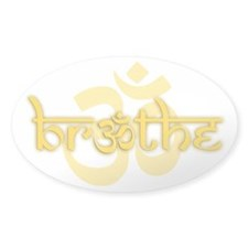 (Yellow) Breathe With Om Decal