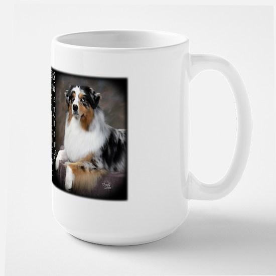 Australian Shepherd-Blue Large Mug