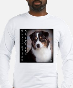 Australian Shepherd-Black-Tri Long Sleeve T-Shirt