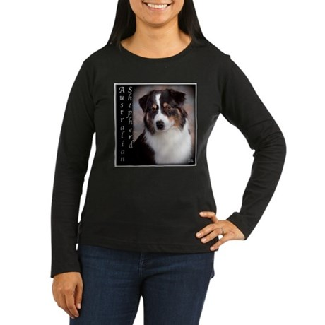 Australian Shepherd-Black-Tri Women's Long Sleeve