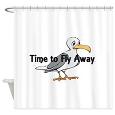 Time to Fly Away Shower Curtain