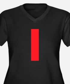 Letter I Red Plus Size T-Shirt